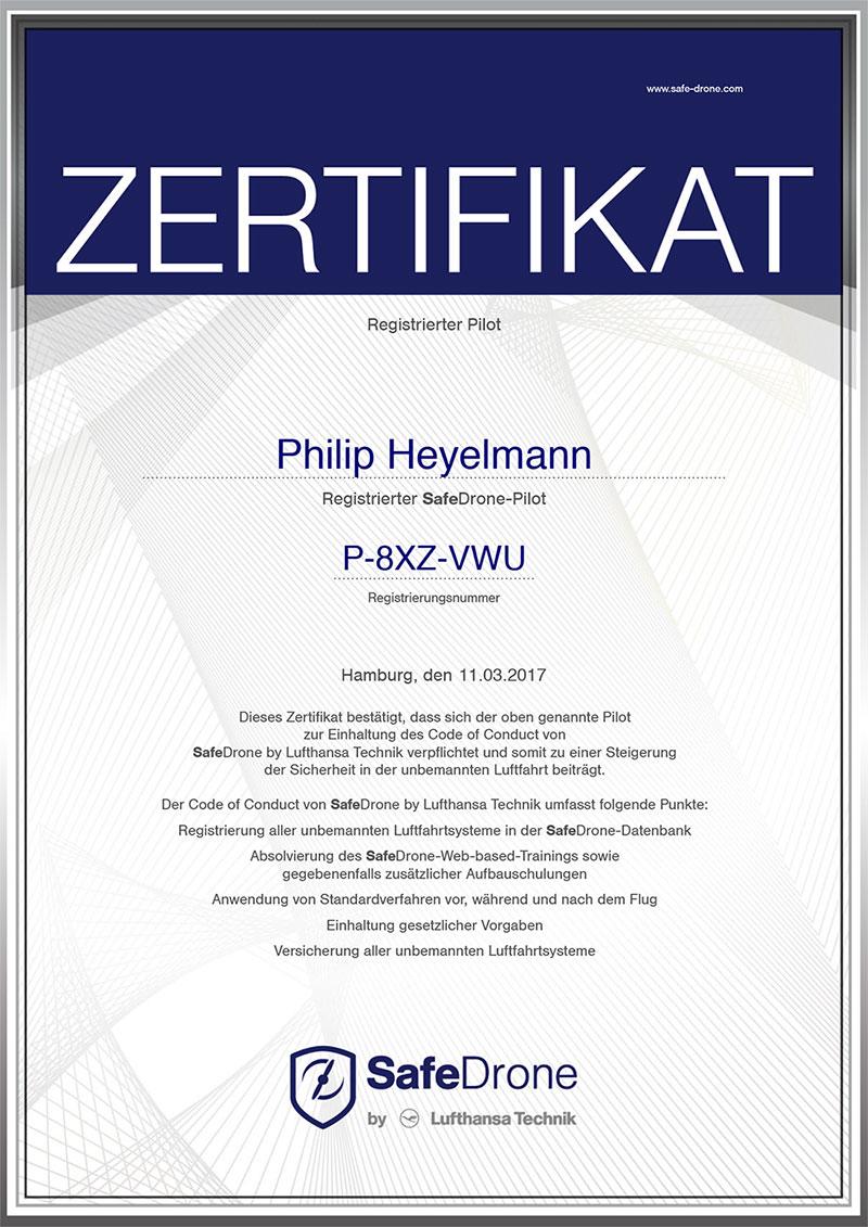 hey-pro_Zertifikat_Safe_Drone